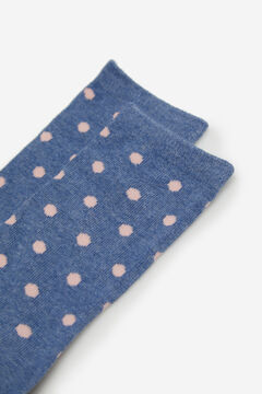 Cortefiel Long spotty print socks Royal blue