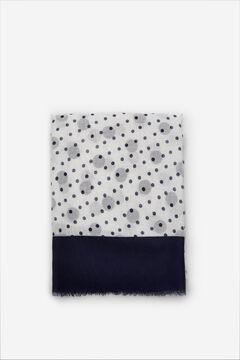 Cortefiel Polka-dot fine scarf Navy