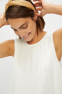 Cortefiel Pleated blouse White