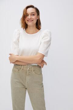 Cortefiel Stretch fabric body stocking White