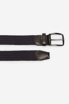 Cortefiel Woven fabric belt Dark brown