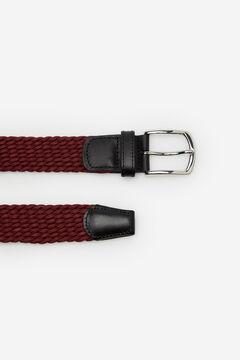 Cortefiel Woven fabric belt Fuchsia