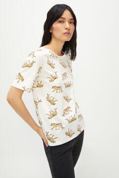 Cortefiel Essential crew neck t-shirt Beige