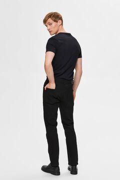Cortefiel Slim organic jeans Black