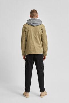 Cortefiel Jacket with pockets Pistachiogreen