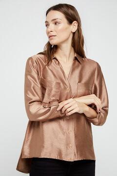 Cortefiel Lamé shirt Stone
