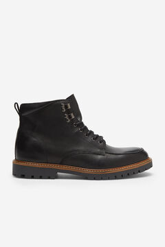 Cortefiel Rubber sole boot Black