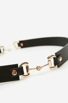 Cortefiel Stirrup belt Black