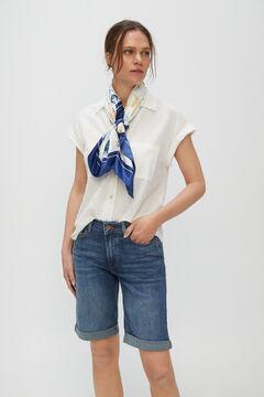 Cortefiel Bermuda Jeans Azul