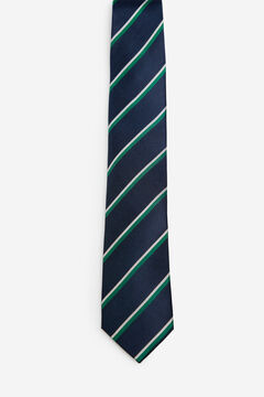 Cortefiel Striped tie Green