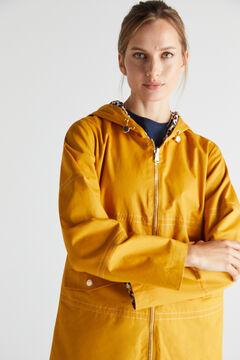 Cortefiel Parka curta reversível Amarelo