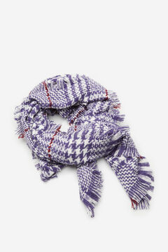 Cortefiel Harris checked scarf Plum