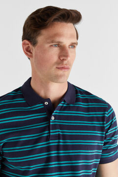 Cortefiel Short-sleeved polo shirt Navy