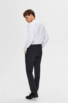 Cortefiel Classic straight trousers  Royal blue