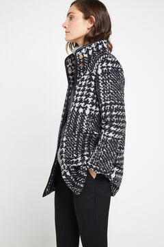 Cortefiel Funnel neck coat Gray