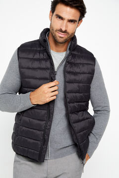Cortefiel Ultralight quilted vest with Thermolite eco Black
