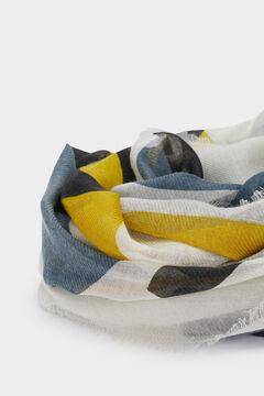 Cortefiel Printed scarf Ecru