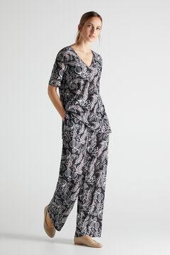 Cortefiel Fluid jersey-knit top Natural