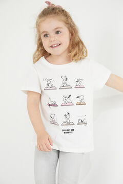 Cortefiel Girls' Snoopy t-shirt White