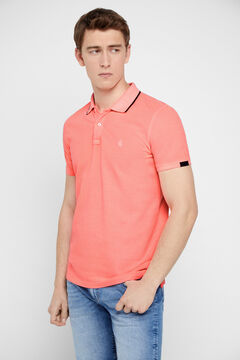Cortefiel Short-sleeved polo shirt Pink