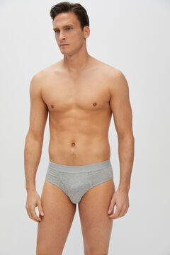 Cortefiel Essential jersey-knit briefs Dark gray