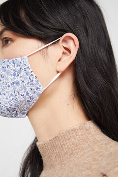 Cortefiel Liberty print face mask Blue
