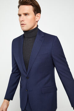Cortefiel Tailored fit flannel blazer Turquoise
