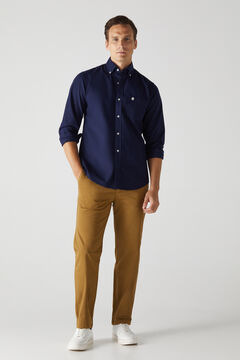 Cortefiel Essential classic fit chinos Mole