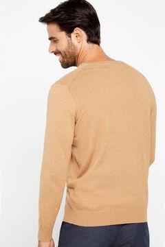 Cortefiel V-neck jumper Stone