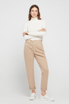 Cortefiel Jeans easy fit Beige