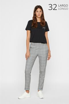 Cortefiel Prince of Wales check trousers Black