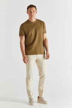 Cortefiel Short-sleeved T-shirt Camel