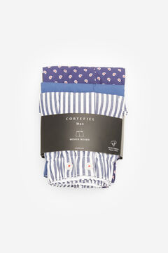 Cortefiel 3-pack woven boxers Navy
