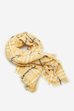 Cortefiel Harris checked scarf Printed