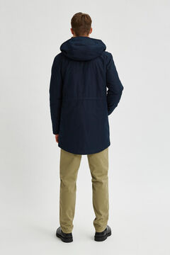 Cortefiel Sustainable parka Royal blue