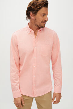 Cortefiel Long-sleeved shirt Orange
