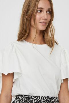 Cortefiel Camiseta manga volumen Blanco