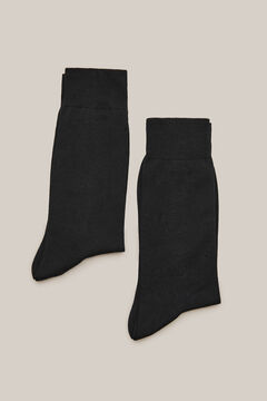 Cortefiel 2-pack plain socks Black