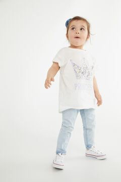 Cortefiel Children's T-shirt Mother's Day White