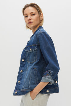 Cortefiel Denim jacket Blue jeans