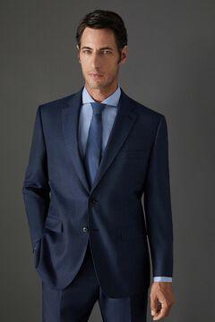 Cortefiel Blue birdseye classic fit blazer Bluejeans