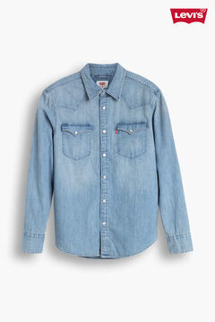 Cortefiel Western denim Levi's® shirt with chest pockets Stone