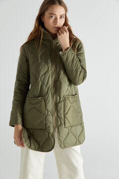 Cortefiel Reversible padded coat Dark gray