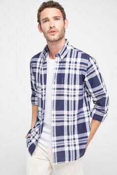 Cortefiel Checked print shirt Navy