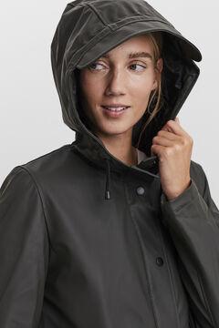 Cortefiel Hooded raincoat Tobaco