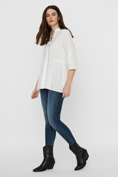 Cortefiel Camisa larga Blanco