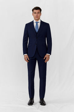 Cortefiel Slim fit checked blazer Navy