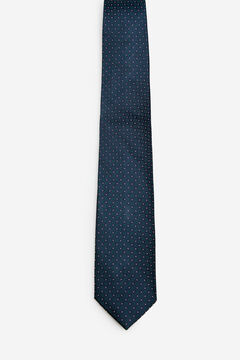 Cortefiel Checked patterned tie Navy