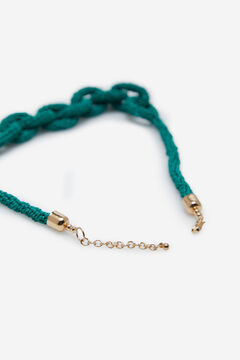 Cortefiel Short link necklace Green
