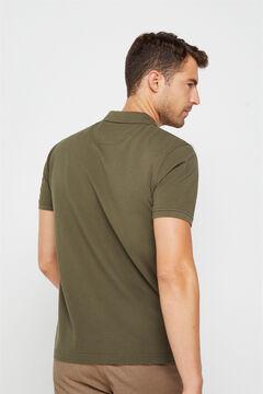 Cortefiel Essential short-sleeved polo shirt Gray